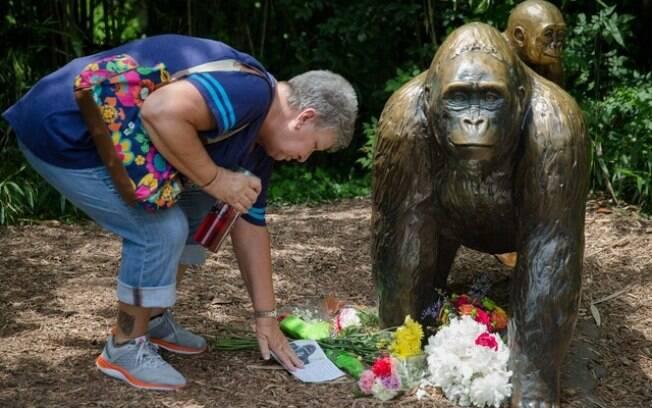 O gorila ganhou até uma estátua como homenagem!