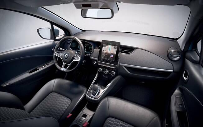 Interior do novo Renault Zoe fica mais refinado e com sistema multimídia com tela de 10 polegadas entre as novidades