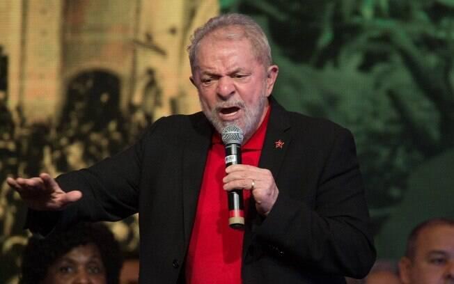 Ex-presidente Lula durante discurso
