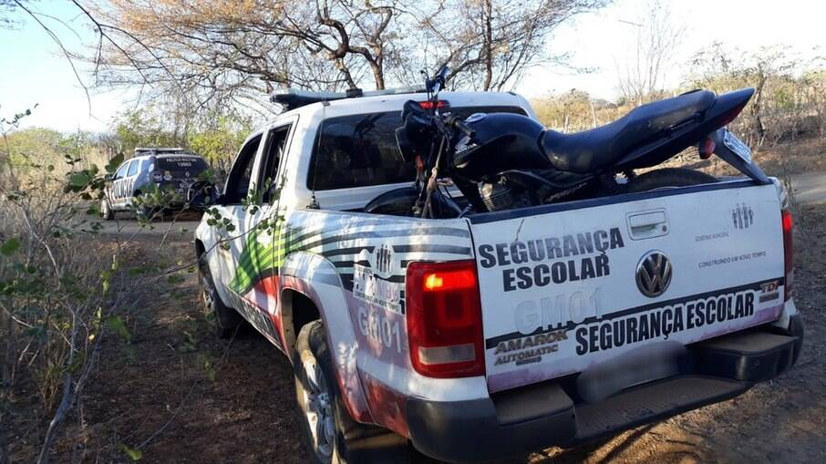 A moto foi encontrada na localização indicada no bilhete