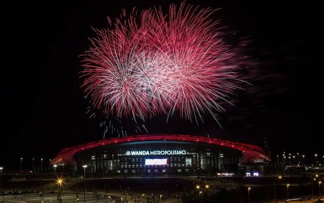 O estádio do Atlético de Madri, Wanda Metropolitano, será palco da decisão da Liga dos Campeões em 2019