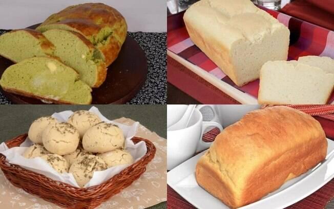 5 receitas saborosas e fáceis de pão sem glúten