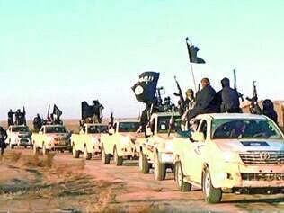 Invasão. Imagem divulgada pelo grupo em janeiro, mostra comboio similar ao que é descrito pelas agências de notícias que estão no local