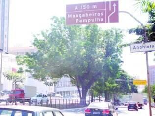 Desorientação 1.Na Nossa Senhora do Carmo, placa indica pista da direita para ir à Pampulha
