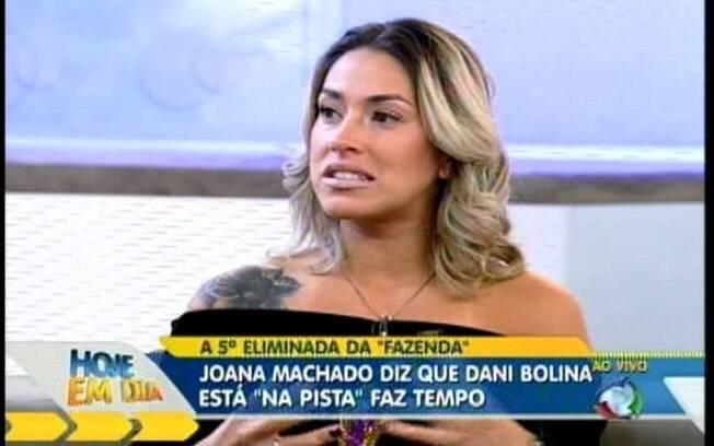 Dani Bolina fala no programa sobre relacionamentos no reality show