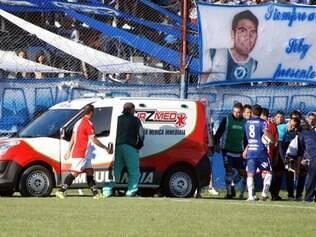 Ortega foi atendido ainda no campo e levado às pressas para o hospital