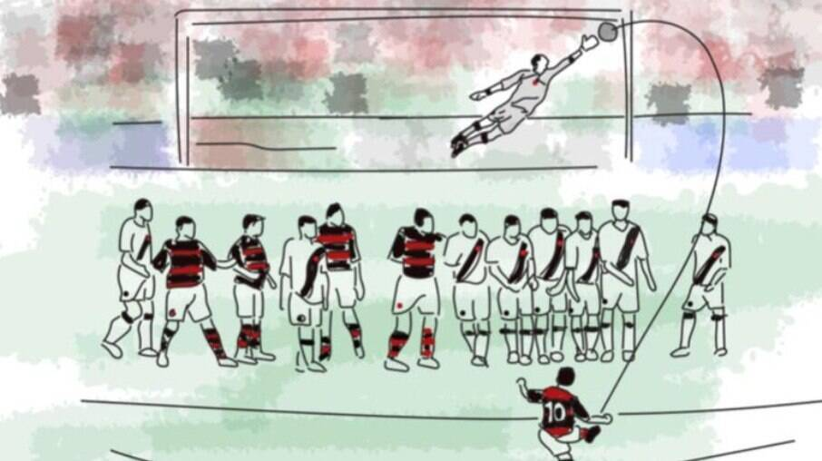 Golaço de Petkovic pelo Flamengo contra o Vasco vira filme
