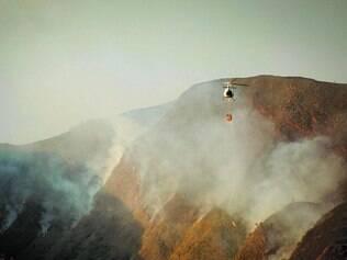 Destruição. Incêndio atingiu ao menos 40 hectares do Parque Estadual da Serra do Rola-Moça neste mês