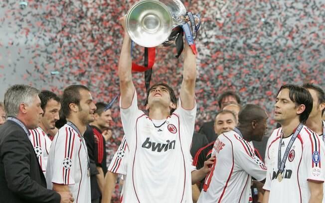 Kaká foi o principal responsável pela última  conquista do Milan na Liga dos Campeões, em 1997