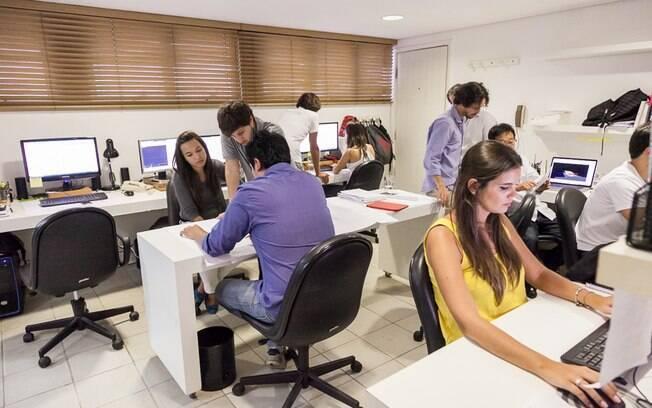 Os Jacobsen têm escritórios no Rio e em SP. O da foto é paulistano e têm o conjunto maior de profissionais em operação
