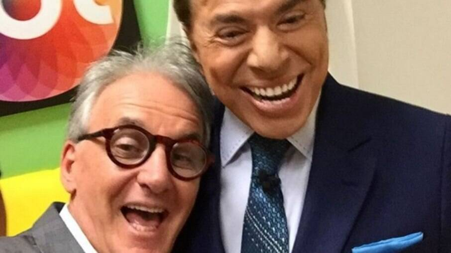 Otávio Mesquita e Silvio Santos