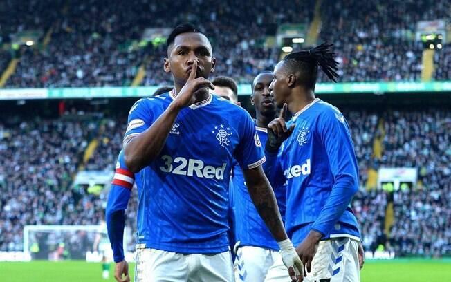 Alfredo Morelos%2C jogador do Rangers%2C da Escócia