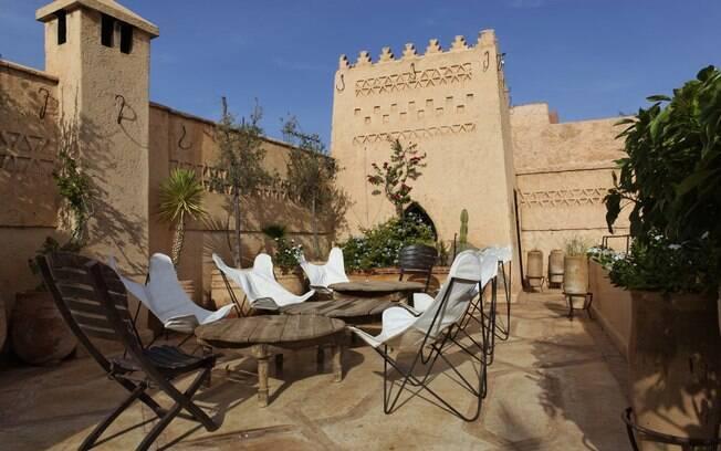 Riad típico no Marrocos