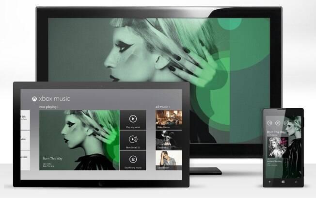 Xbox Music estará disponível em computadores e tablets com Windows 8 e em celulares com Windows Phone 8