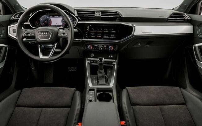 Acabamento caprichado e sistema multimídia de última geração entre os destaques do interior do novo Audi Q3