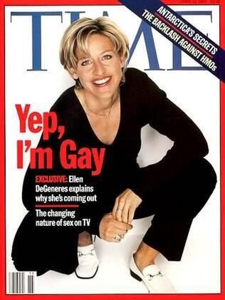 Ellen DeGeneres na capa da revista