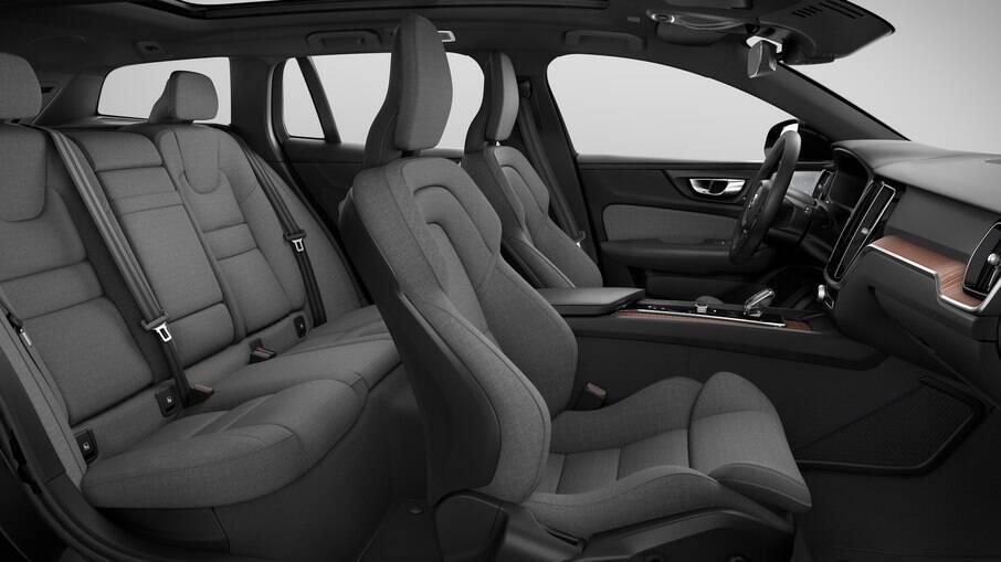 Interior em tecido sustentável do Volvo XC60 leva 30% de lã e 70% de poliéster reciclado