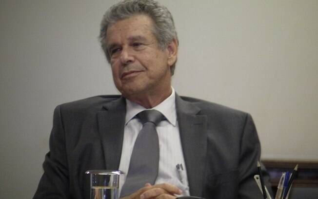 O presidente da Sabesp, Jerson Kelman, durante sua primeira entrevista coletiva, nesta quarta
