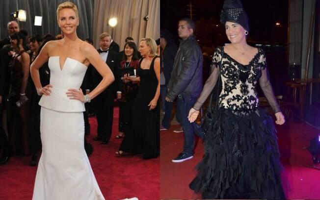 Charlize Theron: melhor look de 2013; Regina Duarte merece troféu 'Derrapada Fashion' segundo internautas