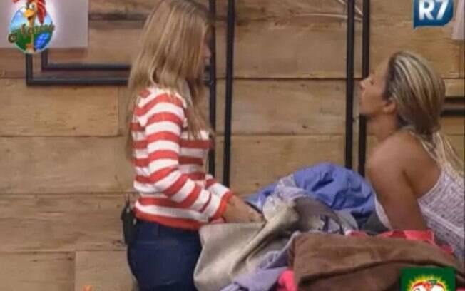 Raquel Pacheco e Valesca conversam sobre a Roça