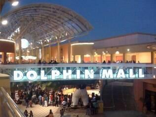 Dolphin Mall, próximo ao aeroporto de Miami
