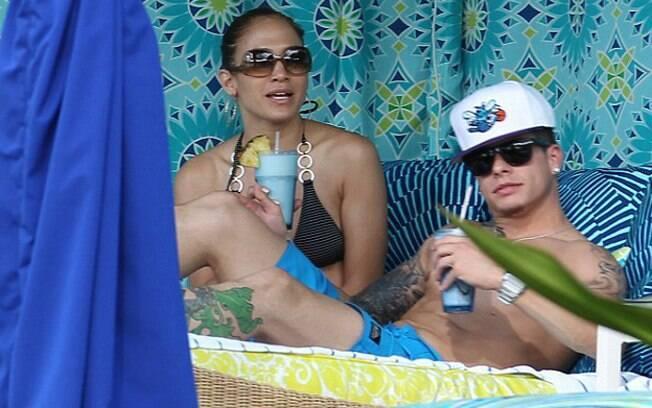 Jennifer Lopez com o seu novo namorado no Havaí