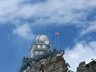 Observatório Sphinx, a 3.571 m de altitude, no Top of Europe