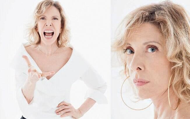 Marilia Gabriela em entrevista para a revista Personnalité