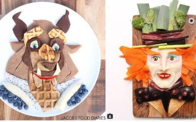 Laleh utiliza alimentos orgânicos para criar os personagens preferidos do filho
