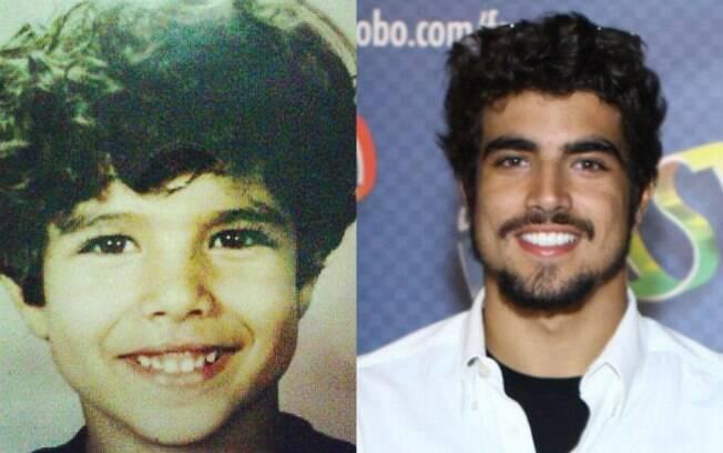Caio Castro mostrou uma foto de quando ainda era uma criança