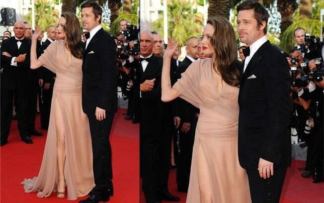 Angelina Jolie e Brad Pitt na première de