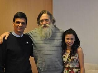 Padrinhos da campanha de doação: o ator Duda Ribeiro, que recebeu um fígado em 2011, o ator José de Abreu, defensor da causa, e Nívea, que ganhou um coração