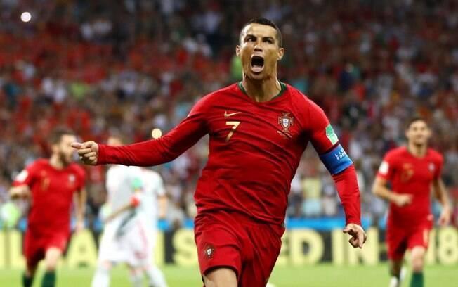 Cristiano Ronaldo marcou os três gols contra a Espanha no empate em 3 a 3 na Copa 2018
