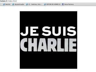 Reprodução do site da revista francesa Charlie Hebdo, atacada por terroristas nesta quarta-feira (7)