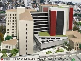 Maquete da nova sede da Justica do Trabalho de Minas