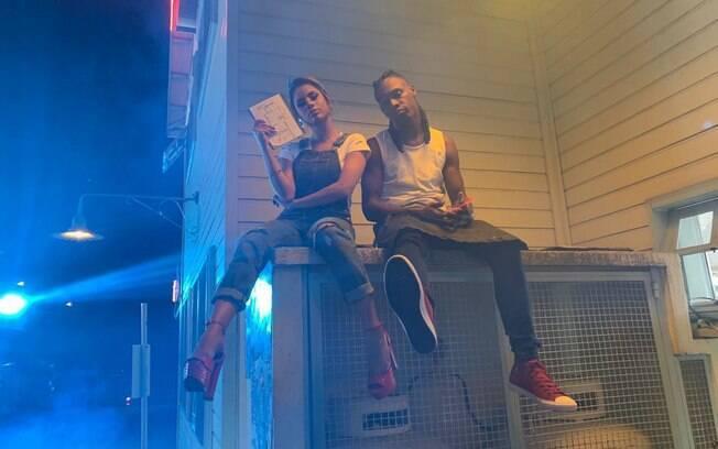 Lexa em gravação do clipe Amor Bandido com MC Kekel