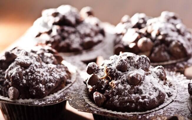 Cupcake de chocolate ao leite