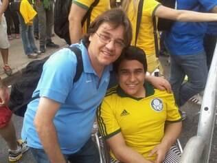 Edinei e o filho Lucas ficaram descontentes somente com o que viram em Fortaleza