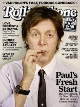 Paul McCartney estampa a capa da edição de março da revista americana