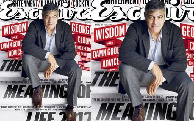 "George Clooney na capa da revista americana ""Esquire"""