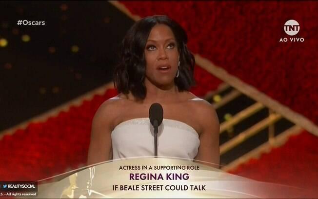Regina King ganha o Oscar de Atriz Coadjuvante por