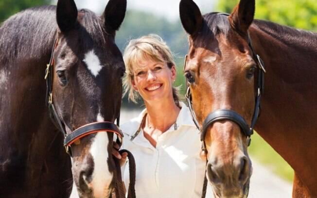 Anky van Grunsven é recordista no hipismo olímpico