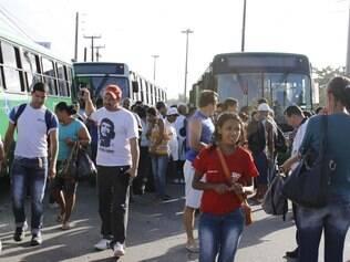 Movimentação de passageiros no bairro do Salgadinho
