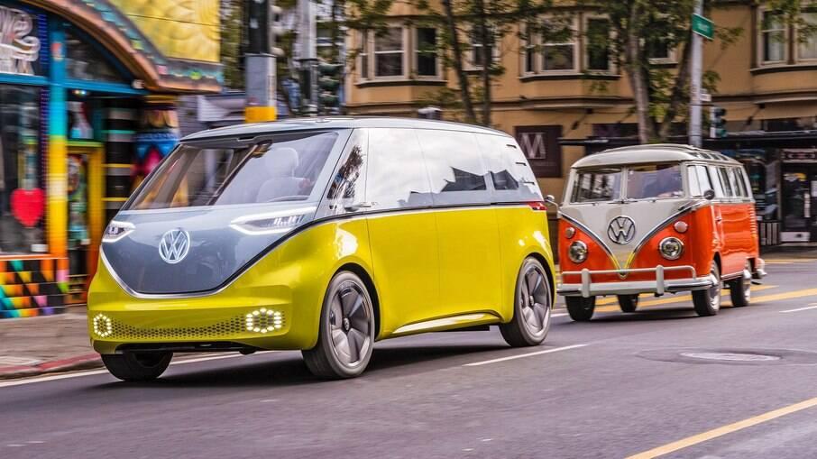 O conceito I.D.Buzz mostra a Kombi do futuro e traz uma lembrança da lendária van popular de passageiros e de carga