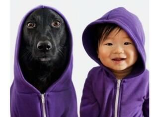 O bebê Jasper tem 10 meses e a cadela Zoey tem sete anos