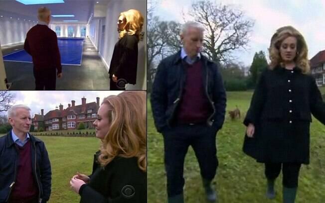 Adele mostrou a casa no talkshow de Anderson Cooper
