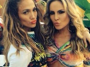 Jennifer Lopez and Claudia Leitte record World Cup music video.