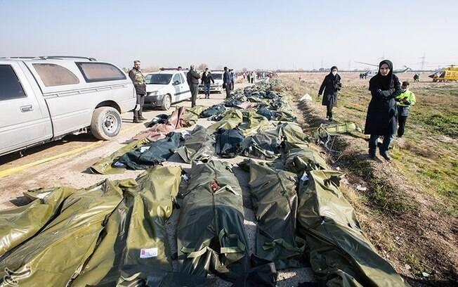 Cenário após queda do avião ucraniano no Irã
