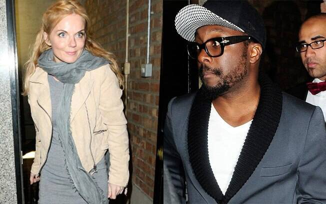 Geri Halliwell e Will.i.am deixam separados a Rose Night Club, em Londres