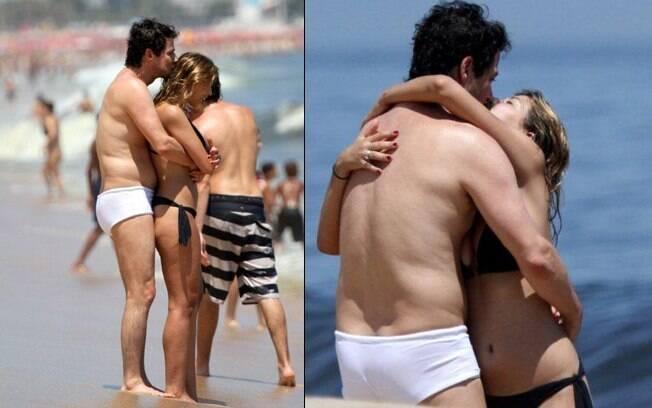 Marcelo Serrado: beijos e abraços à beira-mar